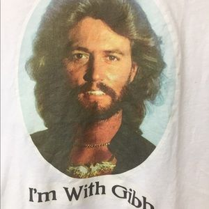 I'm With Gibb T Shirt, Barry Gibb T Size M S